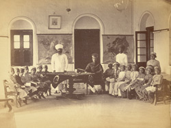 Class in progress in the Parsi Virbaiji School, Karachi